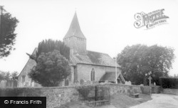 West Chiltington, St Mary's Church And Stocks c.1960