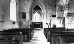 West Chiltington, St Mary's Church Interior c.1960