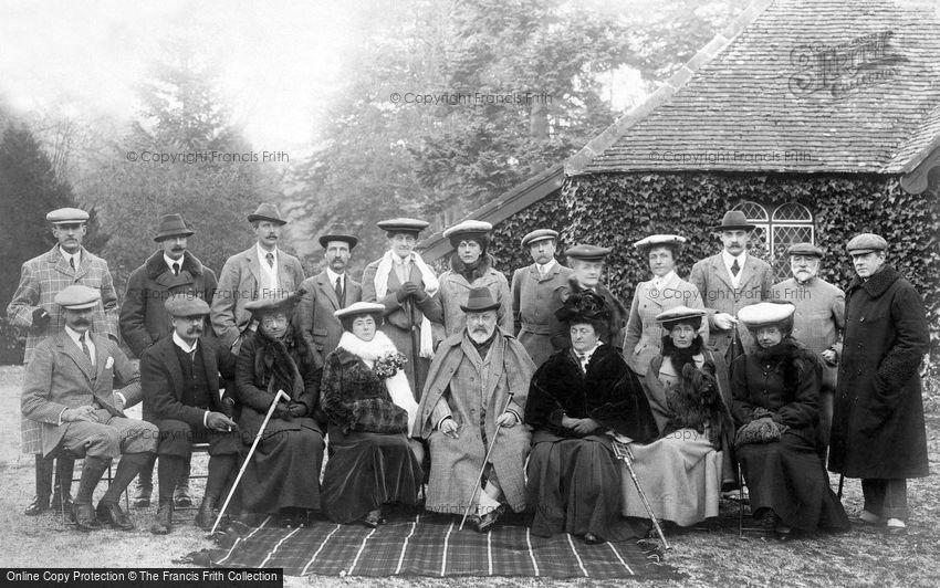 West Dean, Royal Shooting Party at West Dean Park 1904
