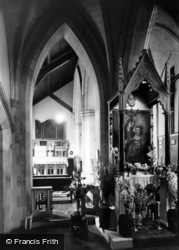 West Grinstead, Our Lady Of Consolation Roman Catholic Church Interior c.1960