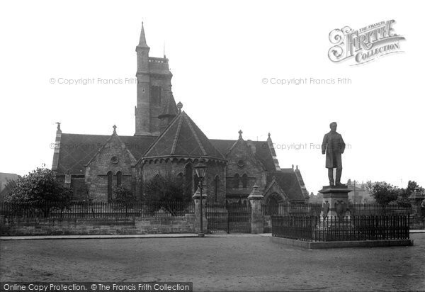 Photo of West Hartlepool, Christ Church And Statue Of Ralph Ward Jackson 1899