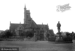 West Hartlepool, Christ Church And Statue Of Ralph Ward Jackson 1899