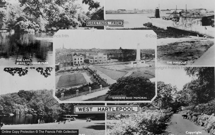 Photo of West Hartlepool, Composite c.1955