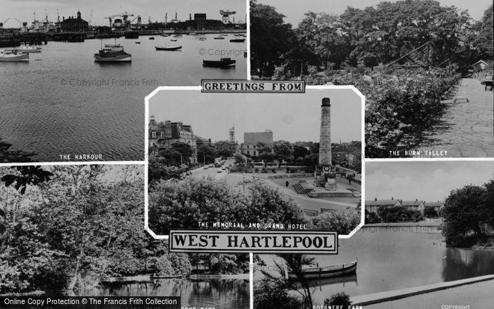 Photo of West Hartlepool, Composite c.1960