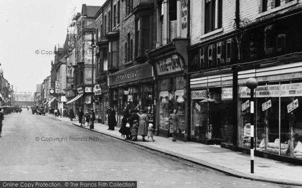 Photo of West Hartlepool, Lynn Street Shops c.1955