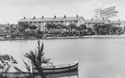 West Hartlepool, Rossmere Park Lake c.1960
