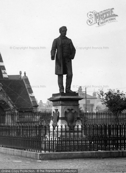 Photo of West Hartlepool, Statue Of Ralph Ward Jackson By Christ Church 1899