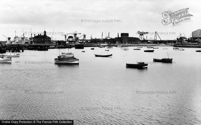 Photo of West Hartlepool, The Harbour c.1960