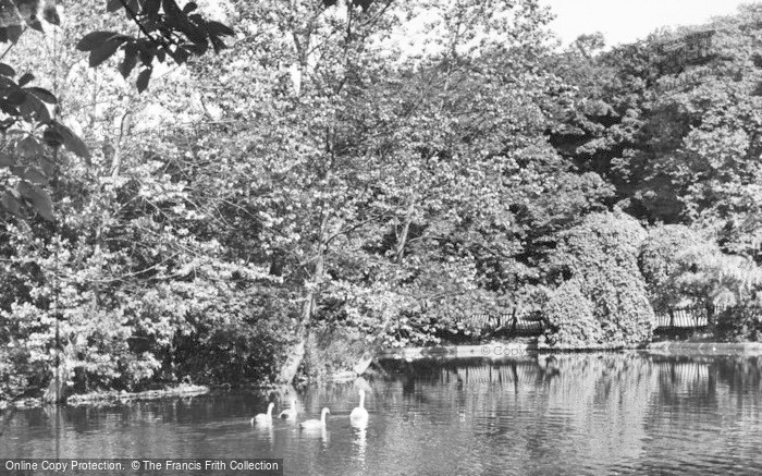 Photo of West Hartlepool, The Lake, Ward Jackson Park c.1955