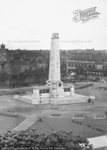 Photo of West Hartlepool, The Memorial c.1955
