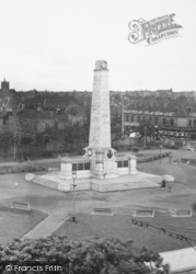 West Hartlepool, The Memorial c.1955