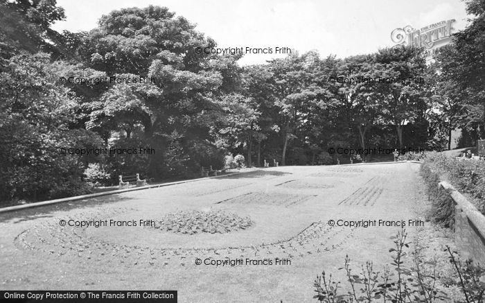 Photo of West Hartlepool, The Terrace, Burns Valley Park c.1955