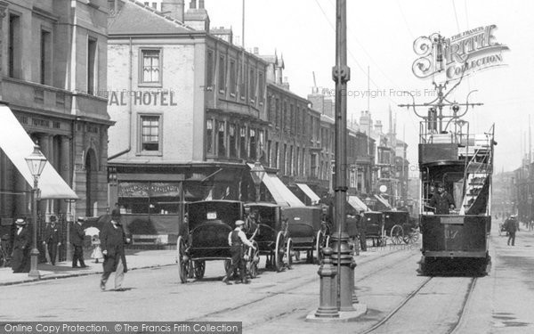 Photo of West Hartlepool, Tram, Church Street 1901, ref. 46944x