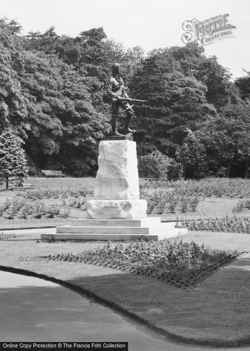 Photo of West Hartlepool, Ward Jackson Park, South African War Memorial c.1955