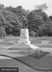 West Hartlepool, Ward Jackson Park, South African War Memorial c.1955