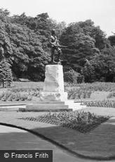 West Hartlepool, Ward Jackson Park, South African War Memorial c1955
