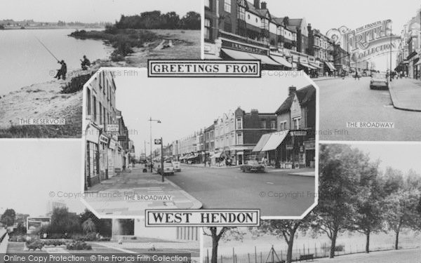 Photo of West Hendon, Composite c.1965