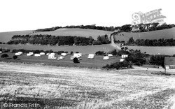 The Plough Caravan Park c.1965, West Hougham