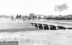 West Huntspill, Main Road And Canal Bridge c.1960