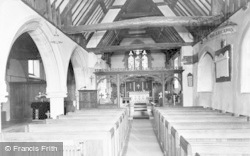 West Ilsley, All Saints Church Interior c.1955