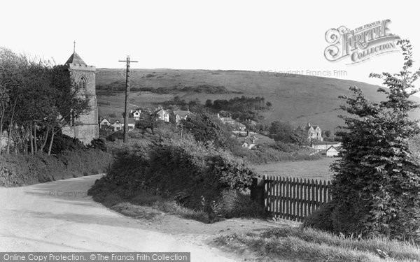 West Lulworth, Church Road c1955