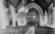 West Lulworth, Holy Trinity Church, Interior 1904