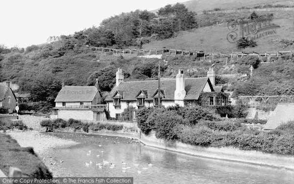 West Lulworth, the Pond c1955