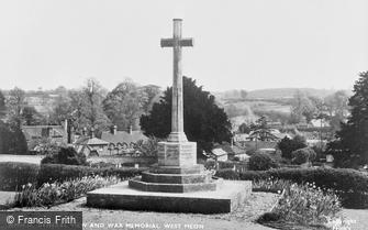 West Meon, general view and War Memorial c1955