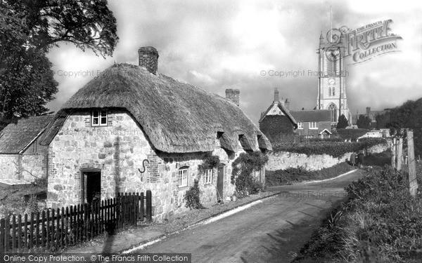Photo of West Overton, The Village Centre c.1955