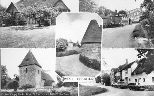 Photo of West Peckham, Composite c.1960