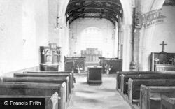 West Rasen, All Saints' Church, Interior c.1955
