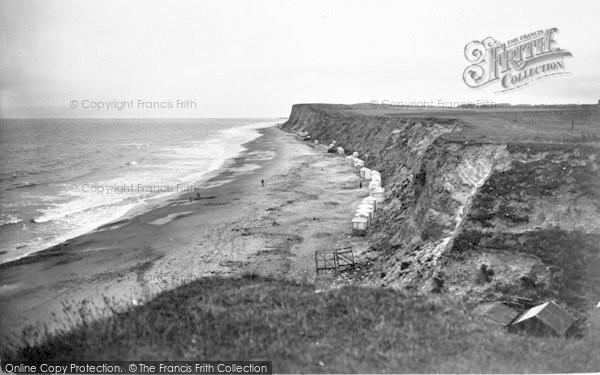 Photo of West Runton, Beach And Cliffs 1938