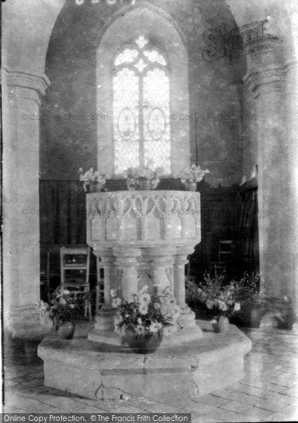 Photo of West Runton, Holy Trinity Church Font 1933