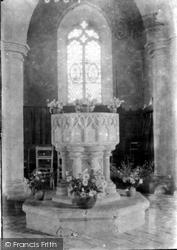Holy Trinity Church Font 1933, West Runton