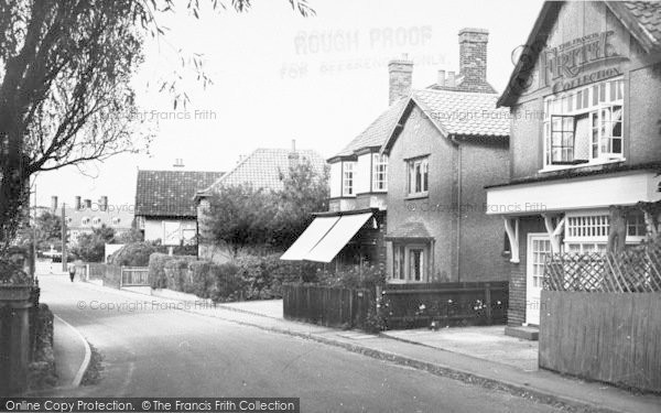 Photo of West Runton, Station Road c.1955