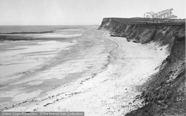 Photo of West Runton, The Beach And Cliffs c.1955