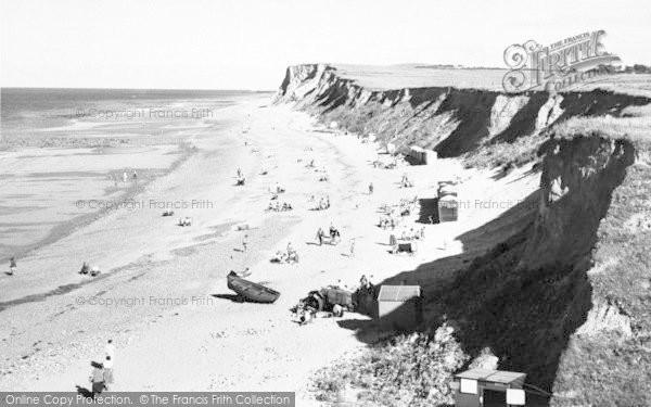 Photo of West Runton, The Beach And Cliffs c.1960
