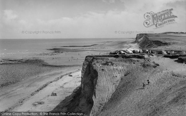 Photo of West Runton, The Cliffs And Beach 1959