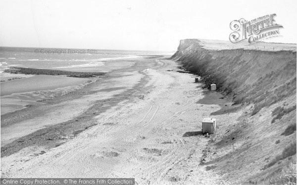 Photo of West Runton, The Cliffs And Beach c.1955