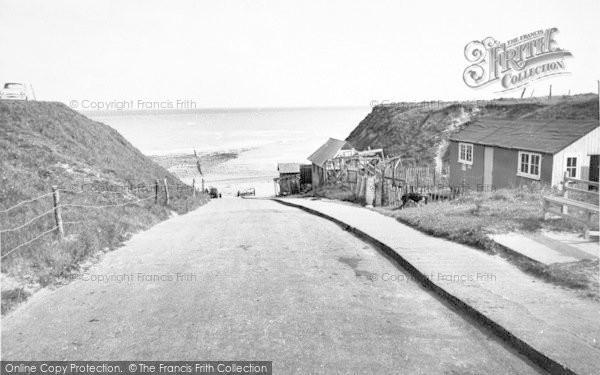 Photo of West Runton, The Gap c.1955