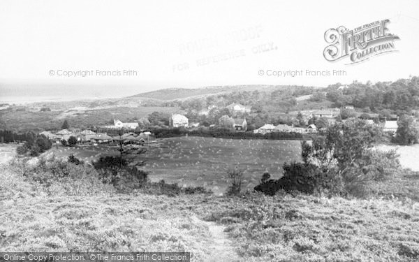 Photo of West Runton, Village, Fields And Sea c.1955
