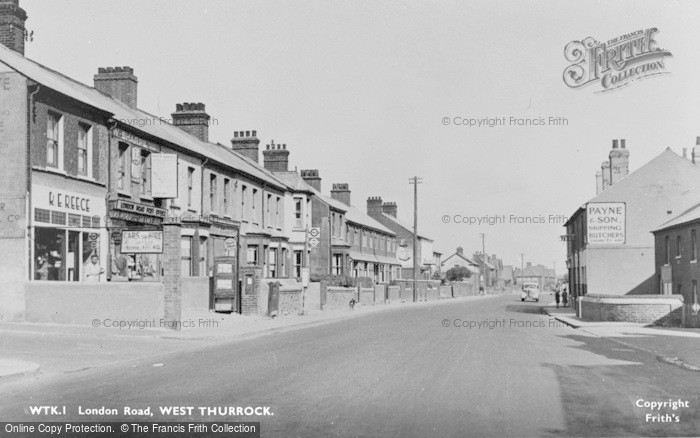 Photo of West Thurrock, London Road c.1955