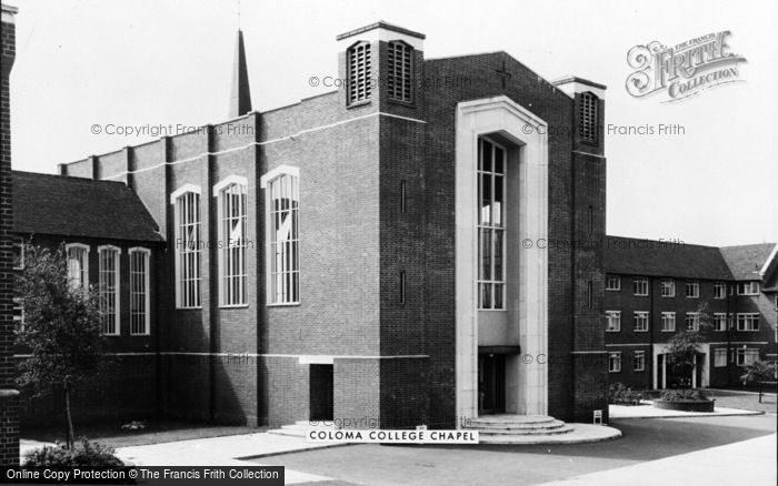 Photo of West Wickham, Coloma College Chapel c.1960