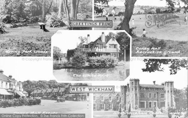 Photo of West Wickham, Composite c.1960
