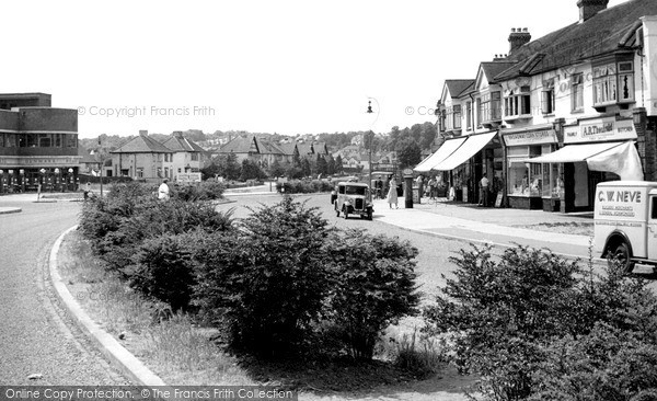 West Wickham, Coneyhall Estate from Croydon Road c1955