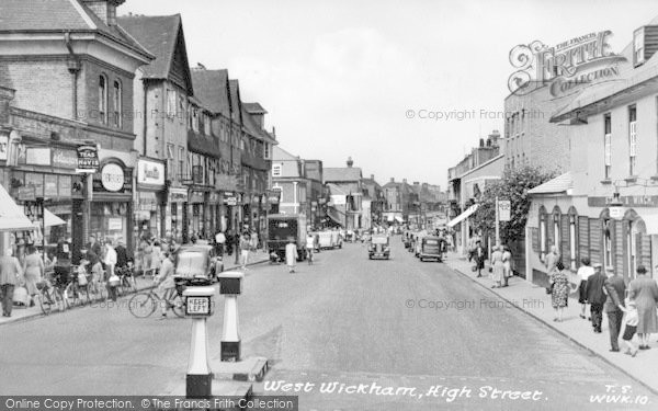 Photo of West Wickham, High Street c.1955