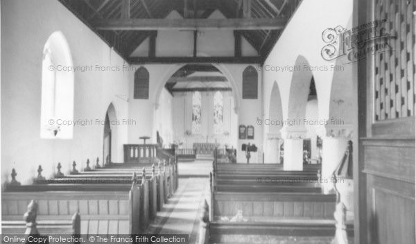 Photo of West Wittering, Church Of St Peter And St Paul, Interior c.1965