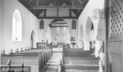 Church Of St Peter And St Paul, Interior c.1965, West Wittering