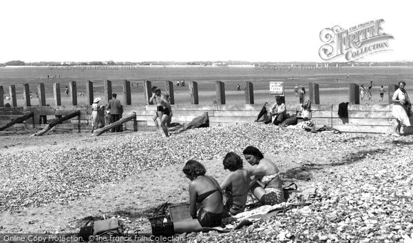 Photo of West Wittering, Sun Bathing At The Point c.1955