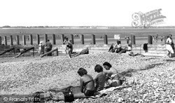Sun Bathing At The Point c.1955, West Wittering